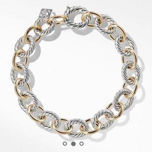 David Yurman Oval Link Bracelet with 18K Gold